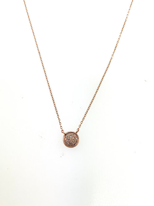 Rose gold diamond dot necklace