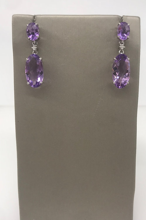 Amethyst Drop Dangle Earring