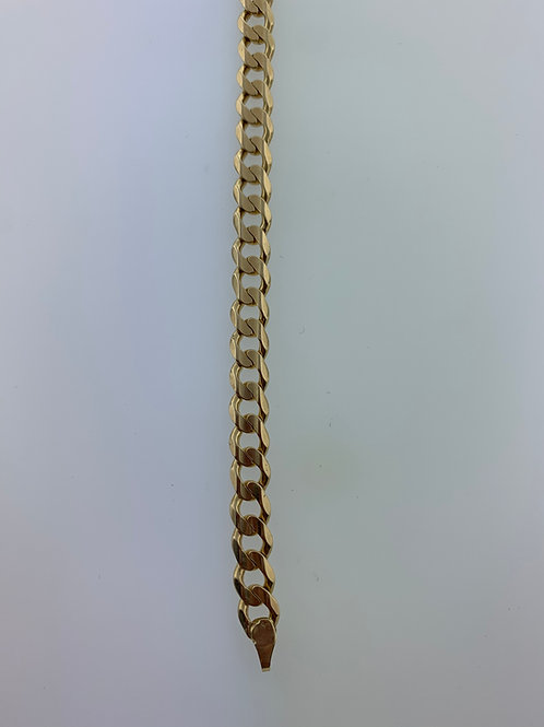 "6.5"" Yellow Gold Cuban Link Bracelet"