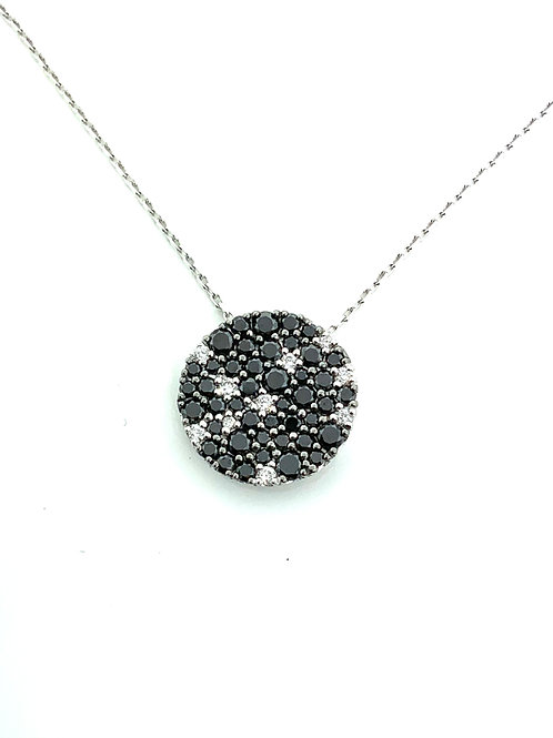 B&W diamond necklace