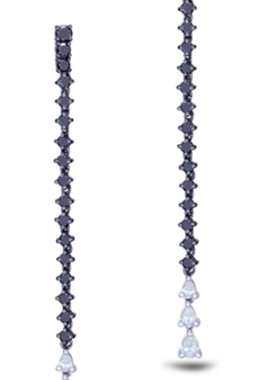Black Diamond Drop Earring