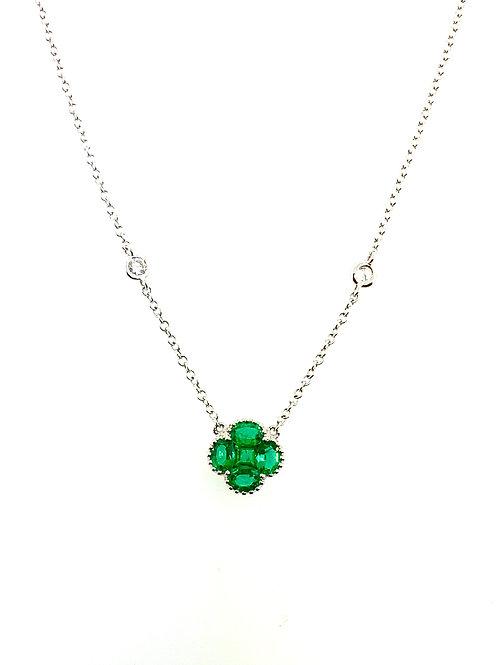 Emerald clover necklace
