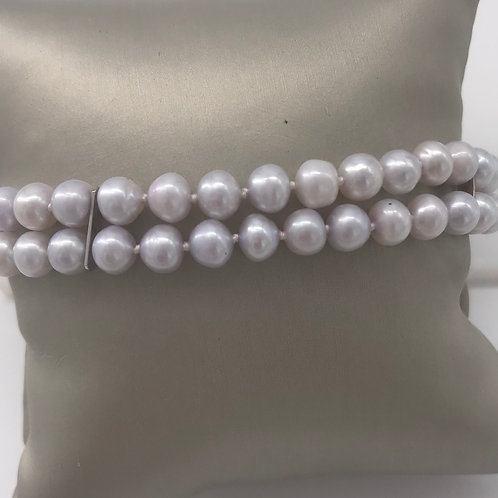 """7"""" Two Strand Fresh Water Pearls"""
