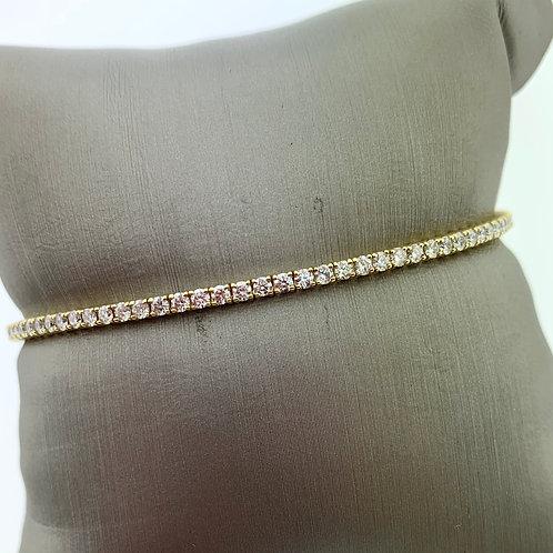Thin 1 Line Diamond Flex Bracelet