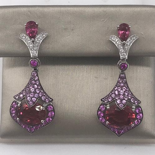 Multi Color Diamond Earring