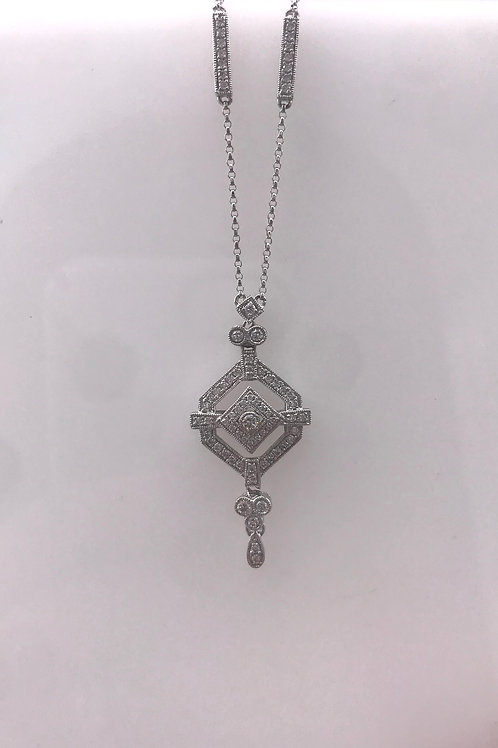 White Gold Antique Diamond Necklace