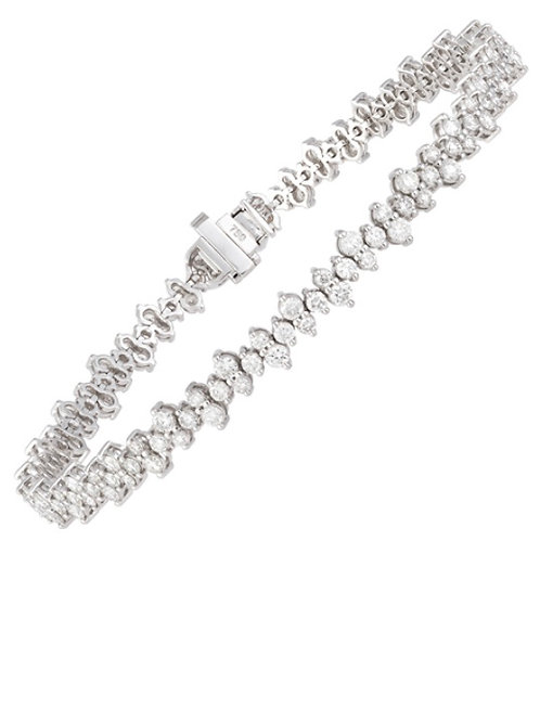 Edgy diamond line bracelet