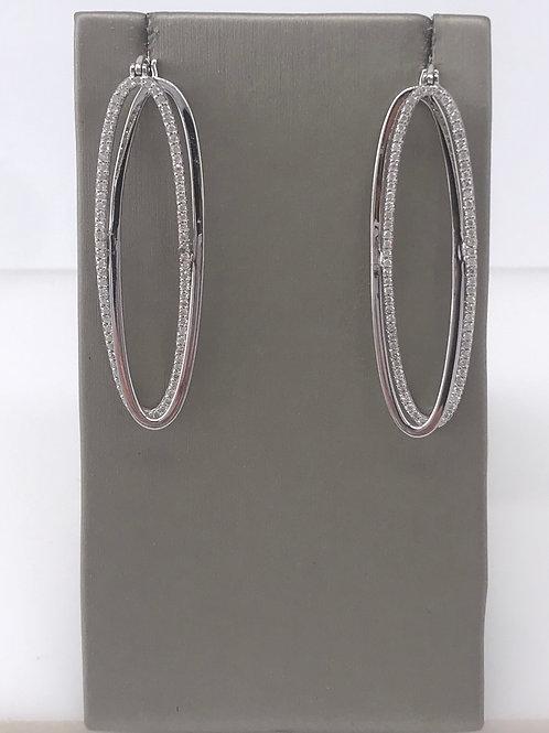 Large Double Oval Diamond Earring