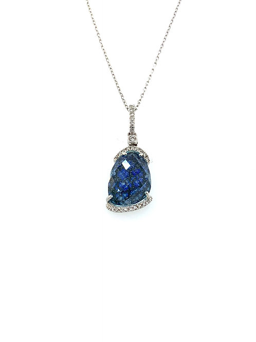 Blue topaz and sapphire necklace