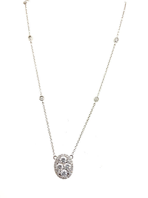Oval cluster necklace