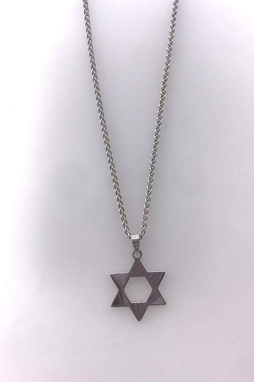 White Gold Star of David