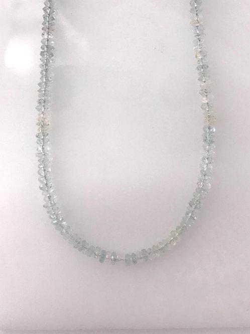 """16"""" Aqua Bead Necklace"""