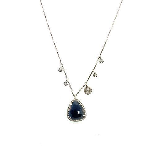 Sapphire slice necklace