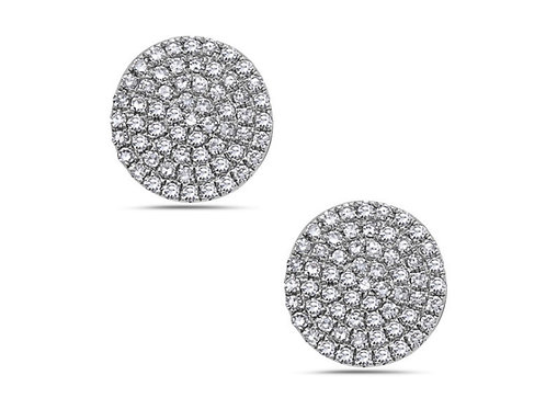 Flat diamond cluster studs