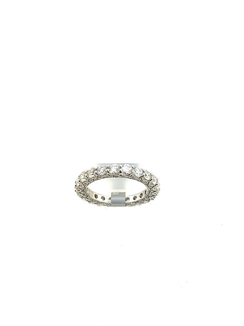 Diamond eternity band with fancy sides