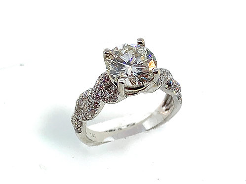Diamond engagement ring twist
