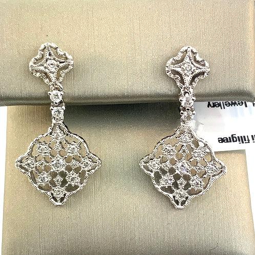 Filigree-dangle earring