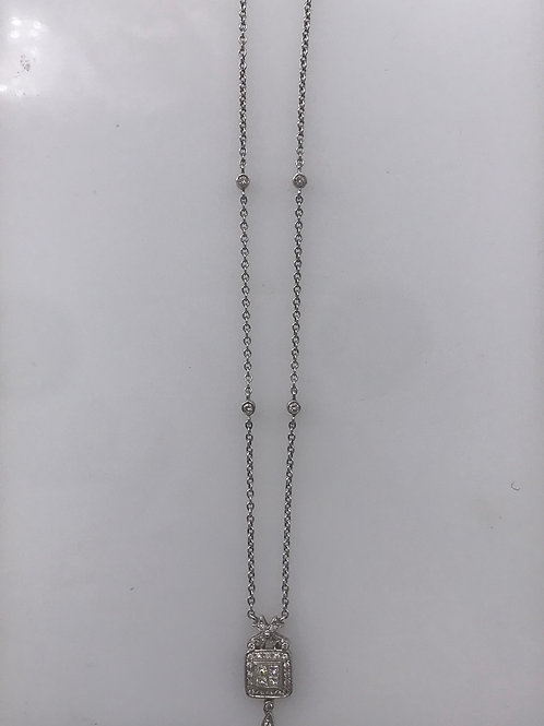 Antique White Gold Diamond Necklace