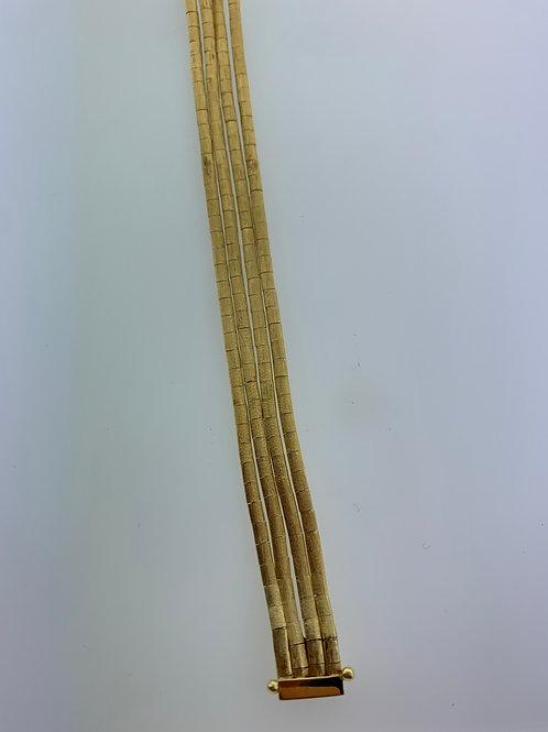 "7"" 4 Strand Yellow Gold Bracelet"