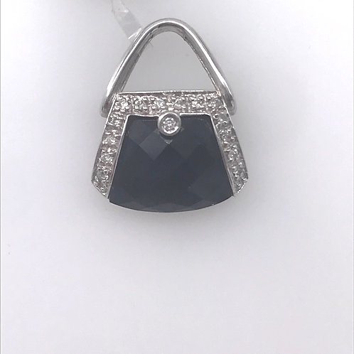 Diamond Black Purse Pendant