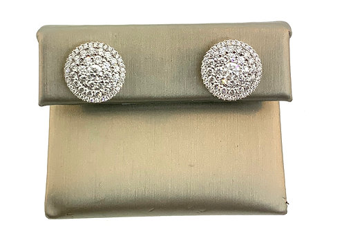 Big diamond cluster earrings