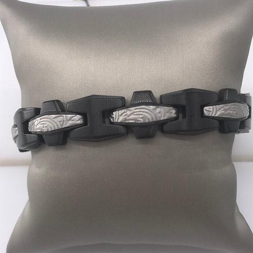 Stainless Steel Black Rhodium Bracelet