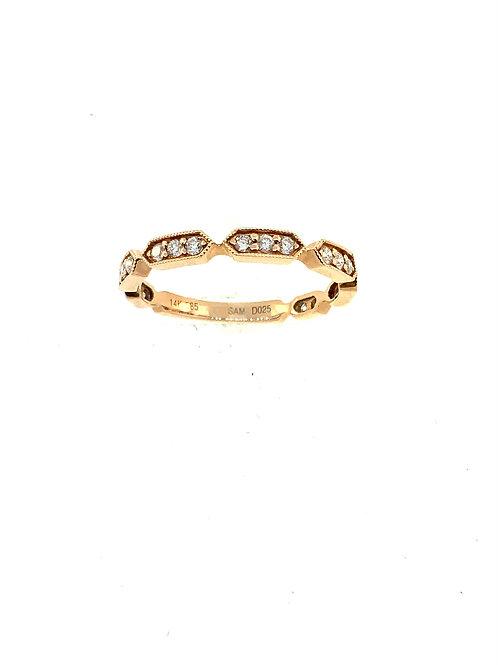 Rose gold diamond stacker