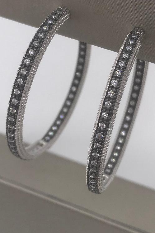 Freida Rothman Sterling Silver Large Hoop