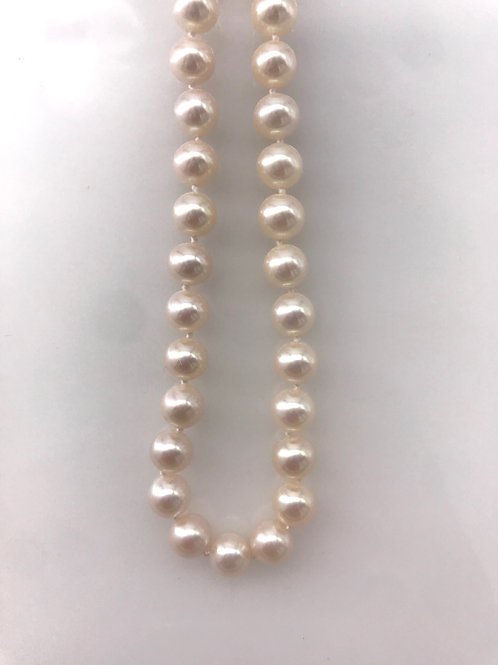 """18"""" 8 mm Cult Pearl Strand Hidden Clasp High Luster"""