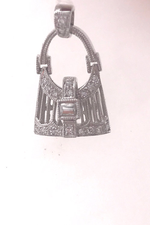 White Gold Diamond Purse Pendant