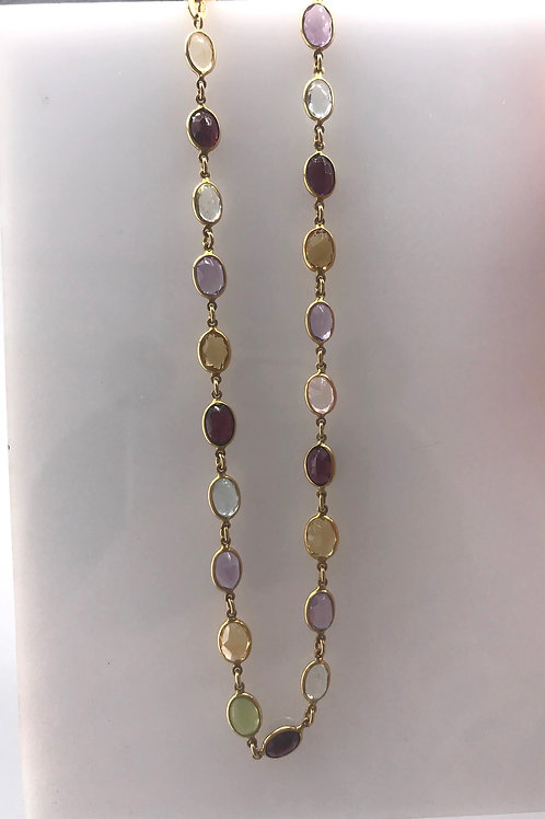 """19.5"""" Colored Stone Necklace"""