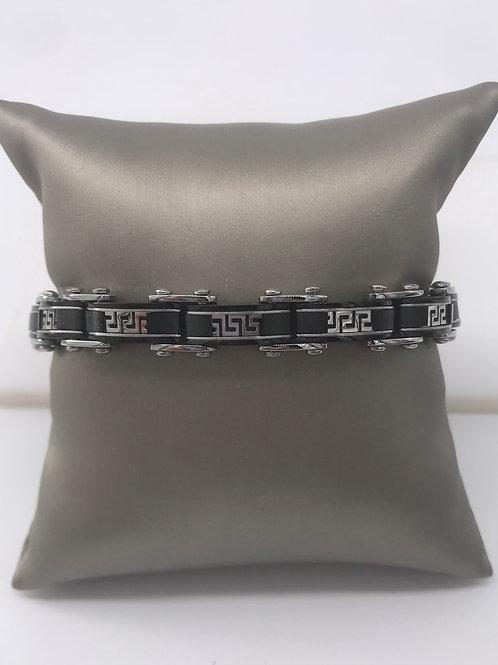 Stainless Steel Black Reversible Bracelet
