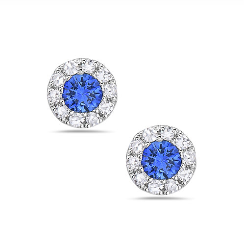 Sapphire Stud halo
