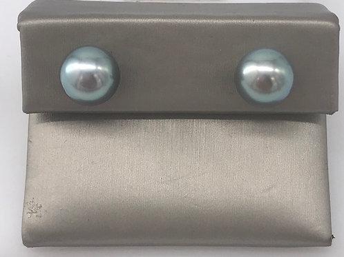 10 mm Tahitian Blue Grey Pearl Stud