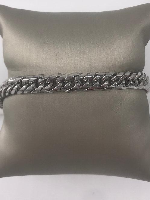 9 in. Stainless Steel Curb Bracelet
