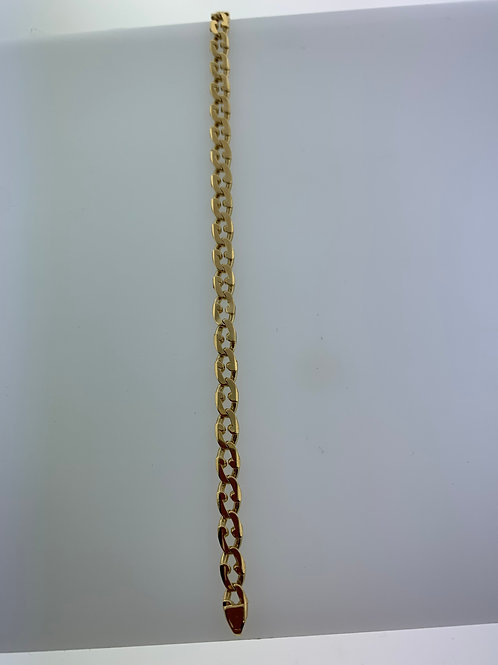 "7"" Yellow Gold Open Gucci Link Bracelet"