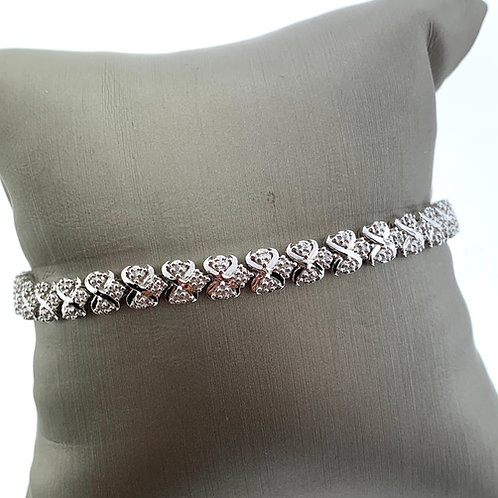 "7"" White Gold Diamond Bracelet"
