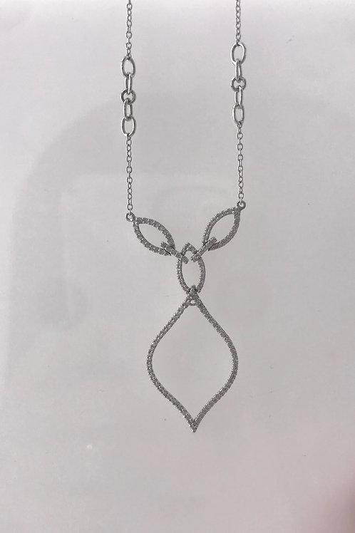 White Gold Diamond Remount Necklace
