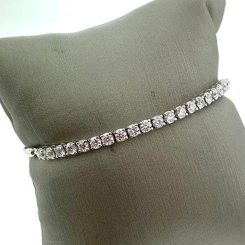 White Gold Diamond Bolo Bracelet