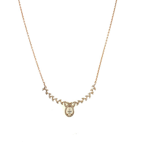 Rose gold curved necklace