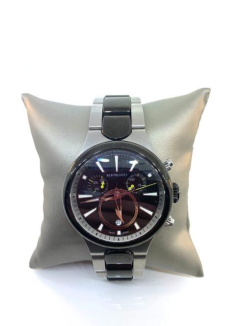 Men's Bertolucci watch black and silver