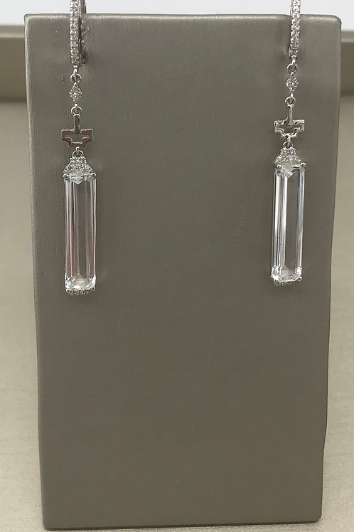 Diamond White Top Dangle Earring