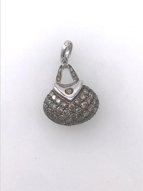 Champaign Diamond Purse Pendant