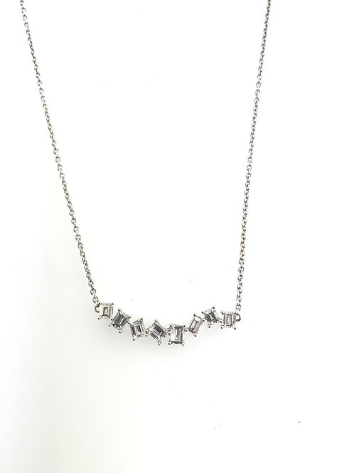 Staggered Baguette necklace