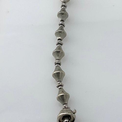 White Gold Beaded Bracelet