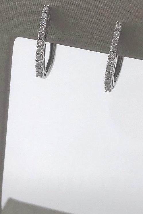 Oval Diamond Hoop