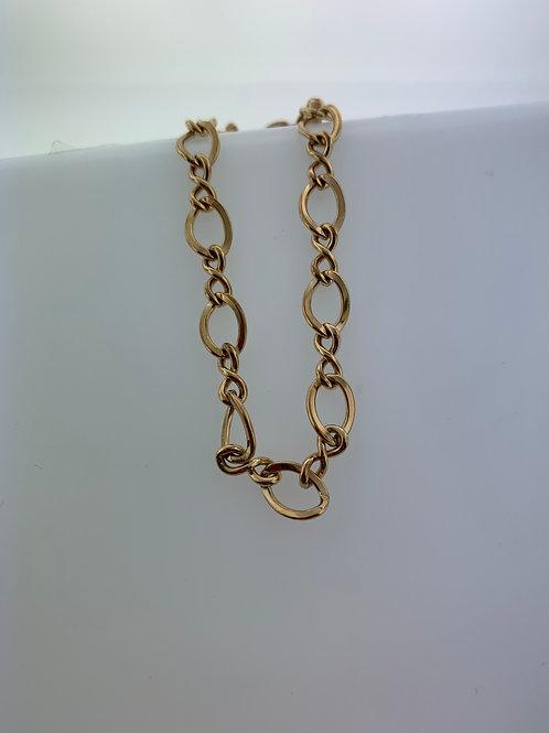 "7"" Rose Gold Open Link Infinity Bracelet"