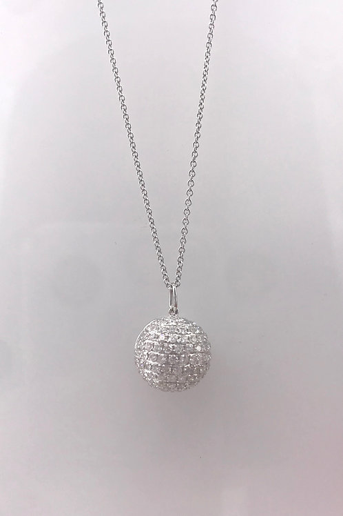 Pave Diamond Ball Drop Necklace