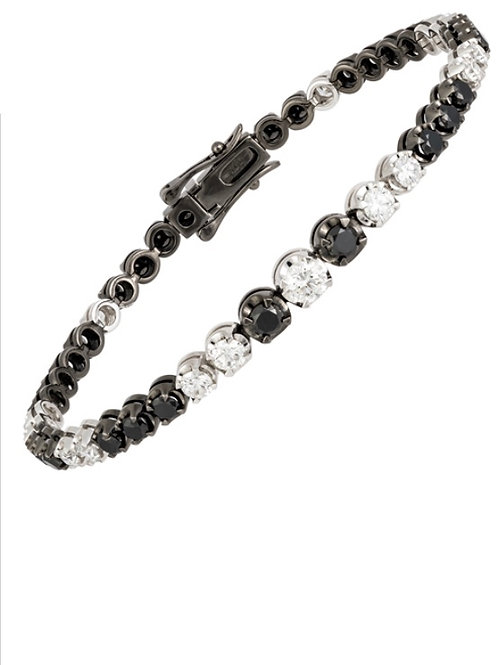 Black & White diamond line bracelet