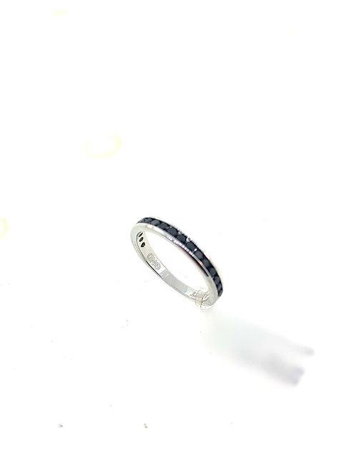 Black diamond channel ring